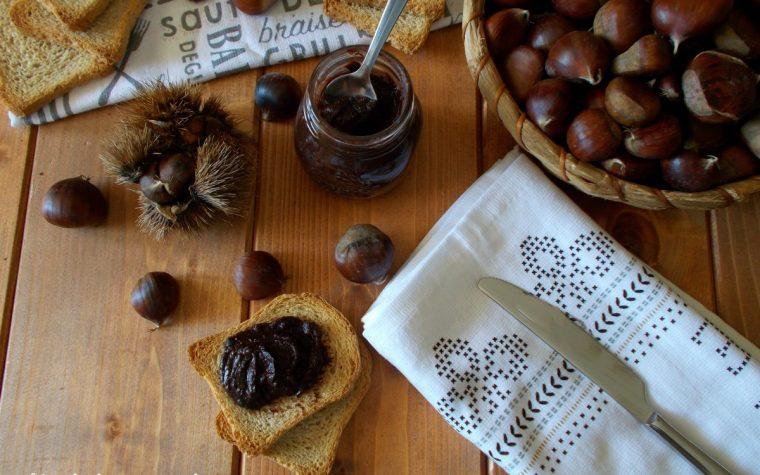 Confettura di castagne al cacao fatta in casa