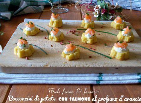 Bocconcini di patate con salmone e arancia