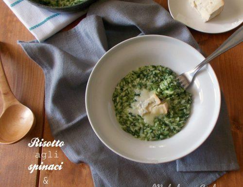 Risotto con spinaci e gorgonzola