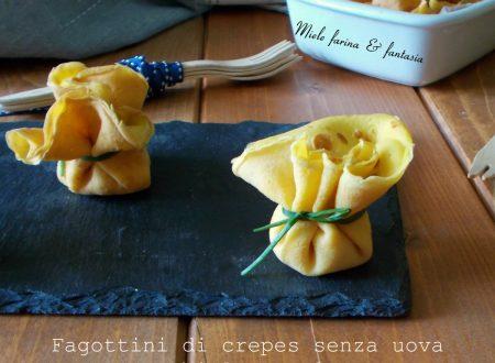 Fagottini senza uova con robiola e salmone