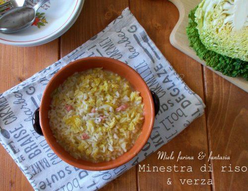 Minestra di riso e verza