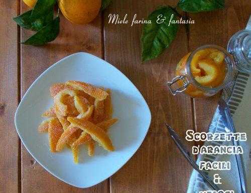 Scorzette d'arancia candite facili e veloci. Ricetta base