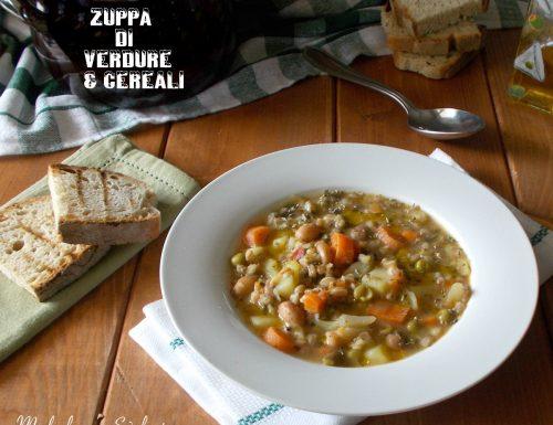 Zuppa di verdure con legumi e cereali