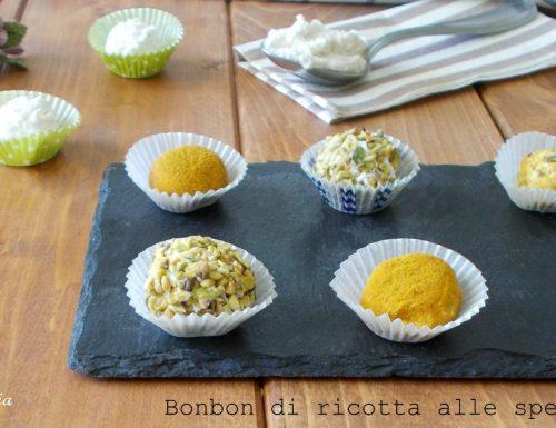 Bonbon salati di ricotta e spezie