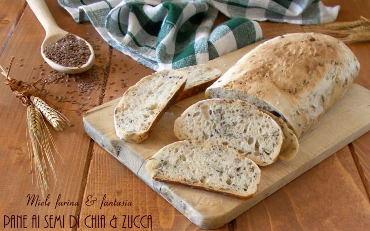 Pane senza impasto con semi di chia e zucca