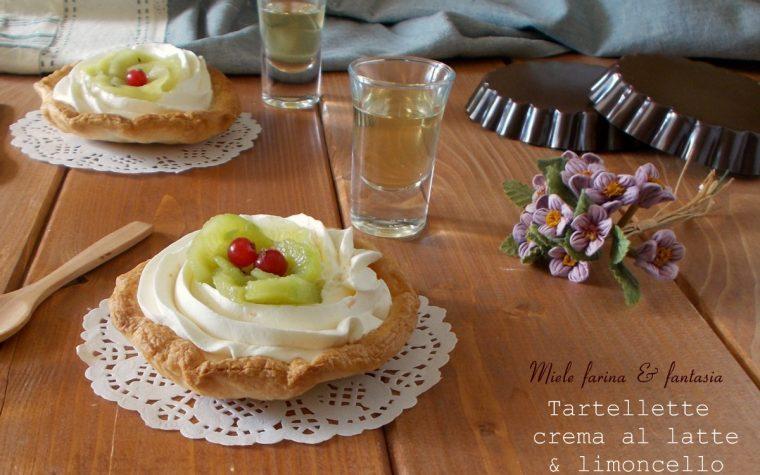 Tartellette dolci con crema al latte e limoncello