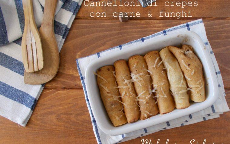 Cannelloni di crepes con funghi e carne