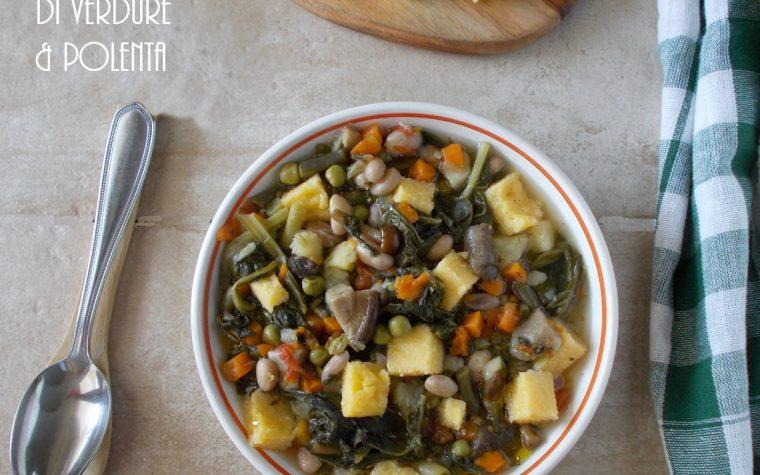 Minestrone di verdure e polenta