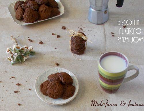 Biscottini al cacao senza uova
