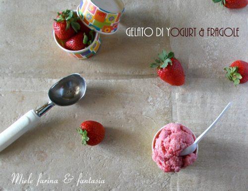 Gelato di fragole allo yogurt senza gelatiera