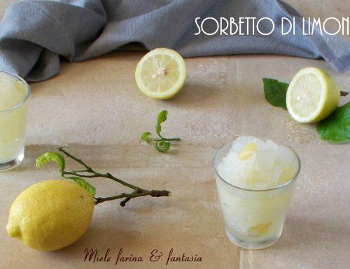 Sorbetto di limoni senza gelatiera