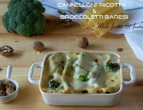 Cannelloni con ripieno di ricotta e broccoletti baresi