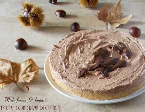 Cheesecake d'autunno alle castagne