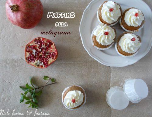 Muffins senza lattosio alla melagrana