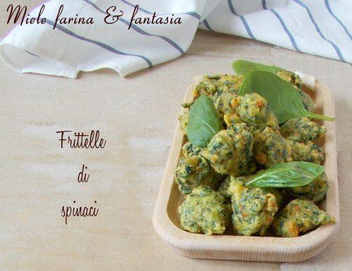 Frittelle di spinaci con e senza lievitazione