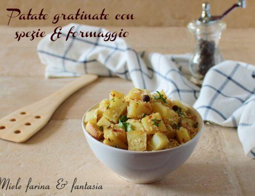 Patate gratinate con spezie e formaggio