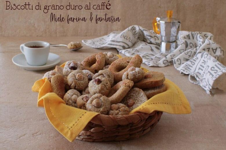 Biscotti di grano duro al caffè senza lattosio