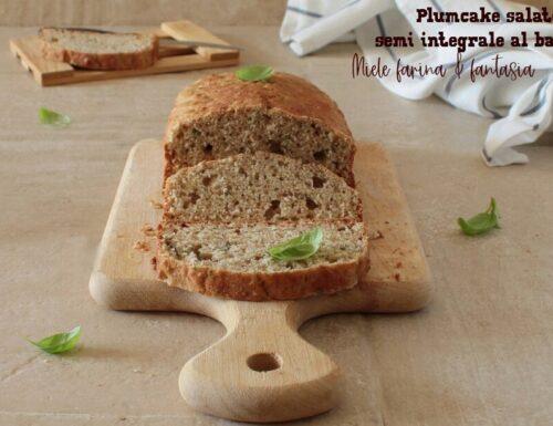 Plumcake salato semi integrale al basilico
