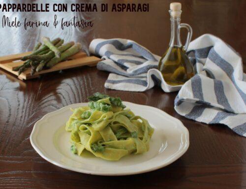 Pappardelle con crema di asparagi