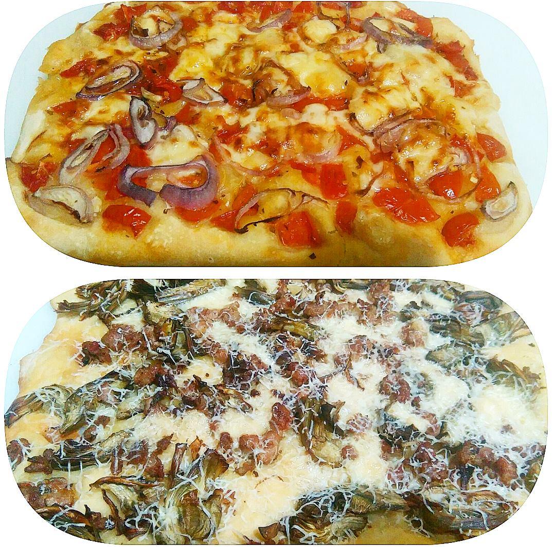 Focaccia con lievito madre e patate
