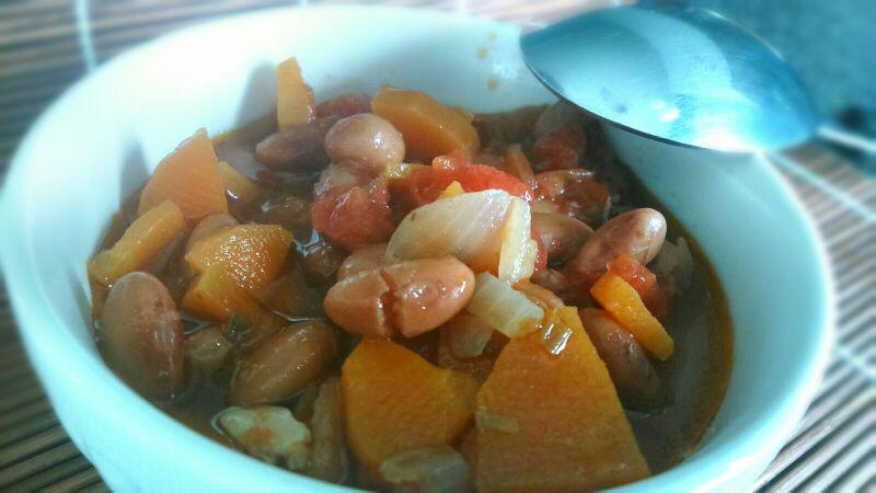 Zuppa di fagioli e carote