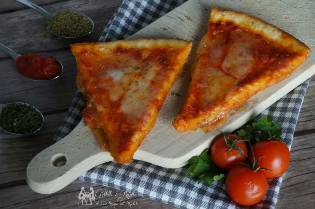 Pizza margherita al latte