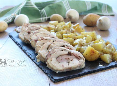 Rollè di pollo farcito con provola e prosciutto cotto