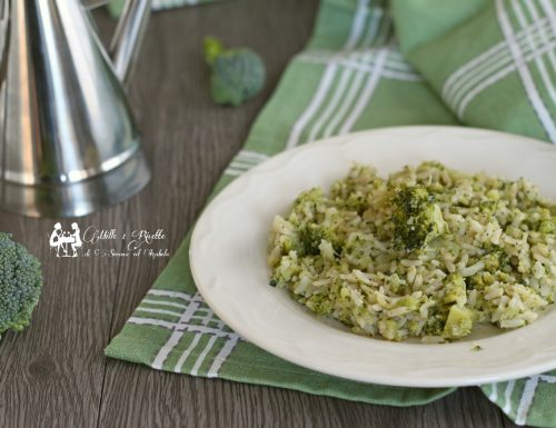 Riso integrale con broccoletti