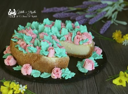 Flowers cheesecake, con ricotta