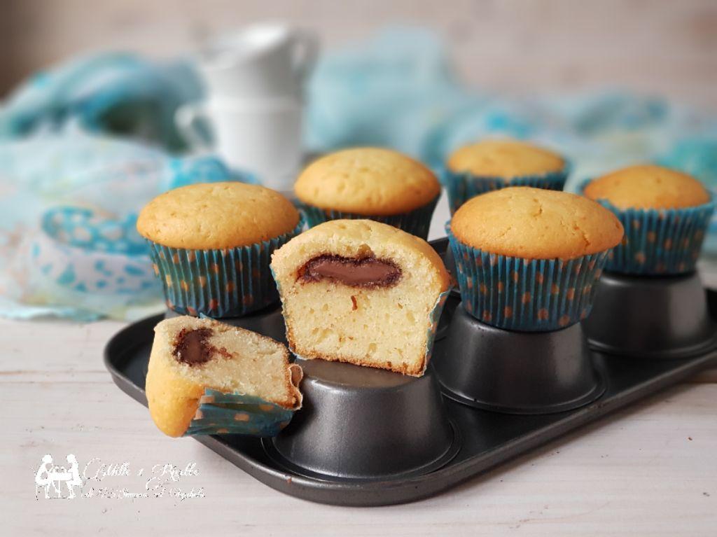 Muffin alla ricotta con cuore di Nutella