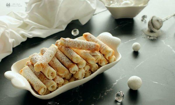 Sigarette dolci con ricotta ricetta siciliana