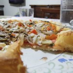 PIZZA TONDA AL PIATTO HOME MADE