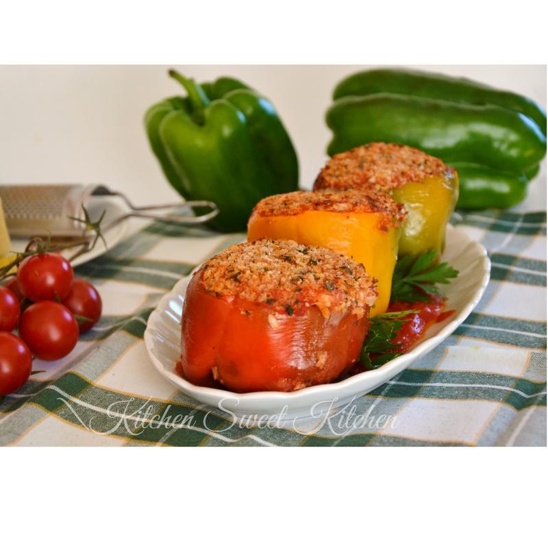 peperoni ripieni con carne e riso