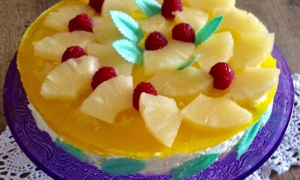 Ananas in cheesecake e cioccolato bianco