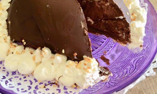 Torta tartufo al cioccolato e rum