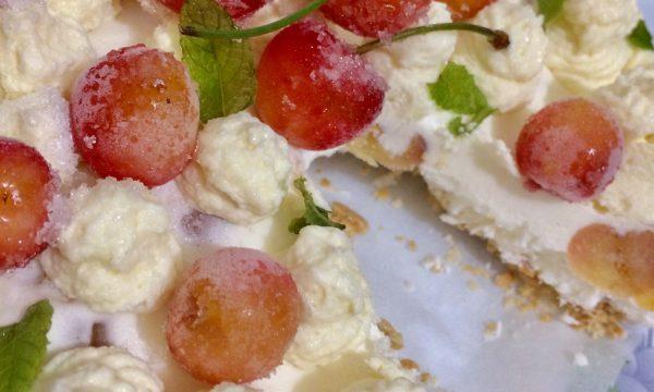 Torta ciliegie e cioccolato bianco