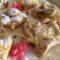 Crostata scomposta crema e amaretti