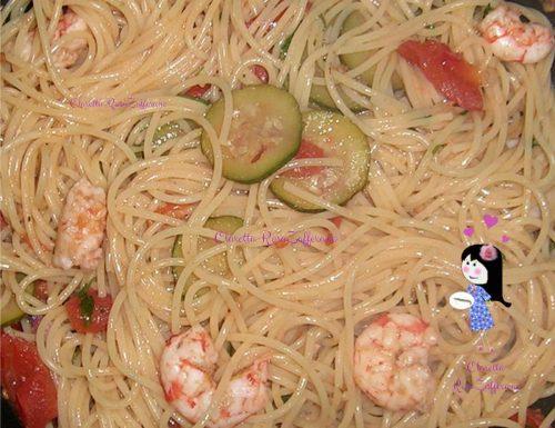Spaghetti al sugo di mazzancolle, Ricetta di mare
