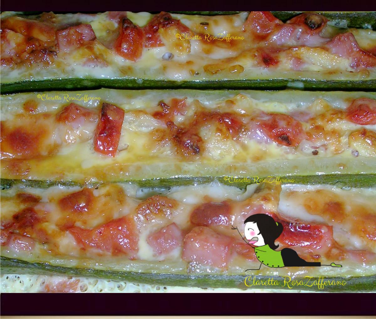 Zucchine ripiene e saporite al forno, Zucchine ripiene, Zucchine al forno, Claretta Rosa Zafferano