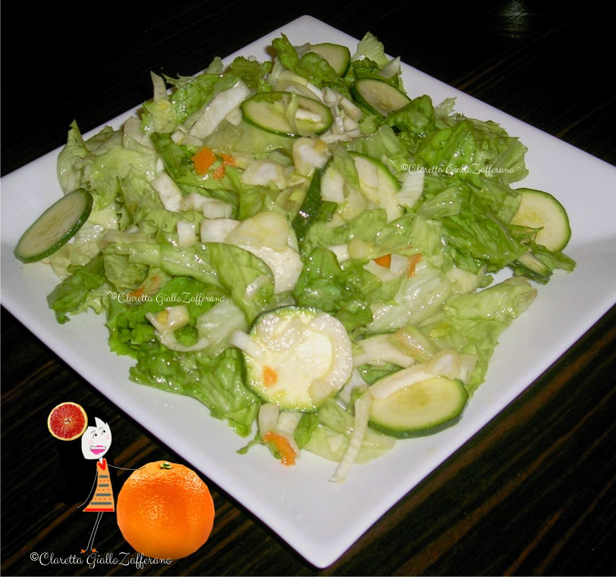 Eccezionale Insalata mista di verdure crude | Ricetta facile | Insalata di arance FJ45