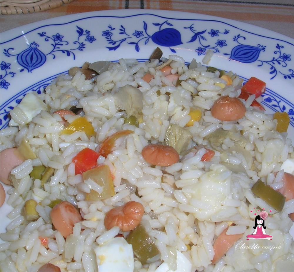 Insalata di riso, Riso freddo. Ricetta veloce, 119.0001