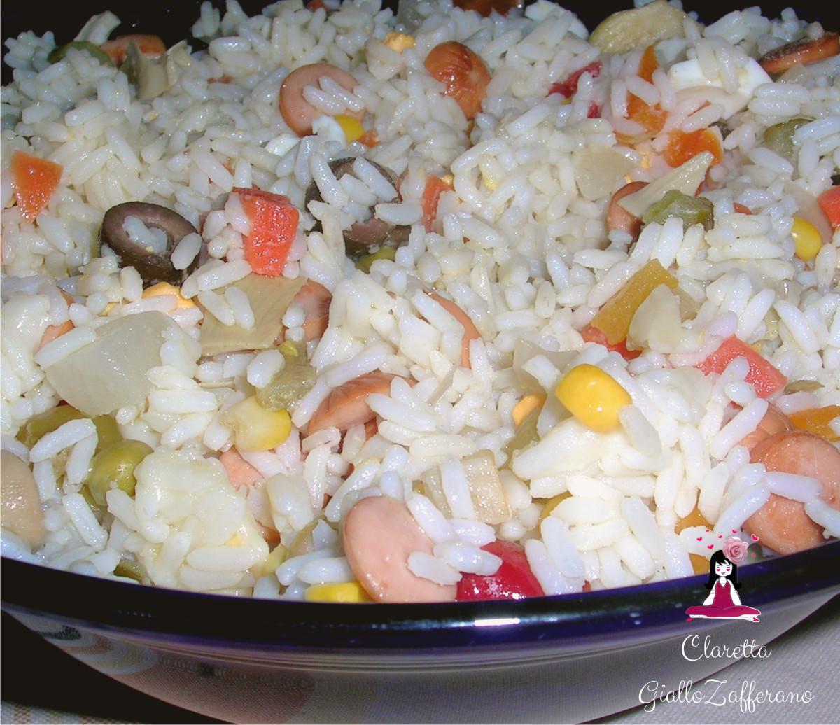 Insalata di riso, Riso freddo. Ricetta veloce. 119