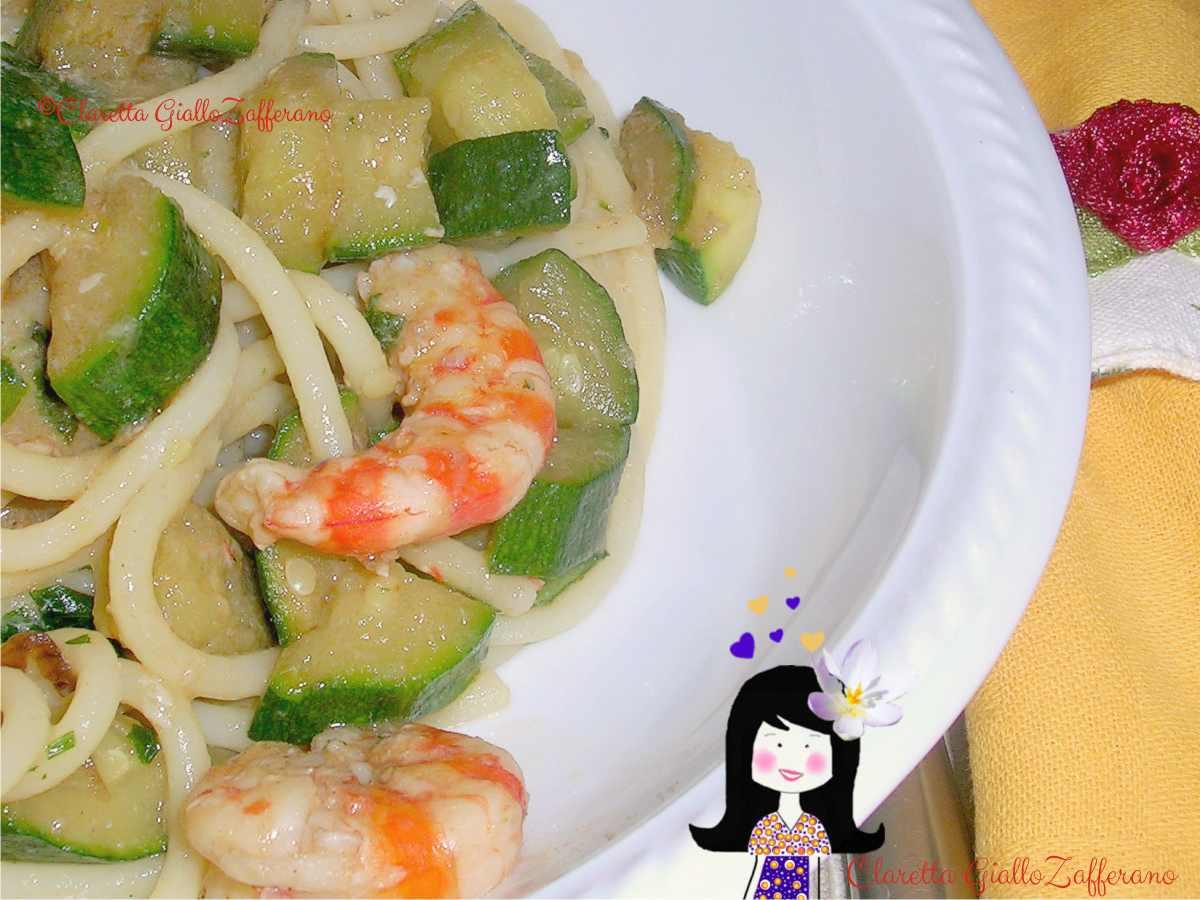mazzancolle e zucchine, Claretta GialloZafferano