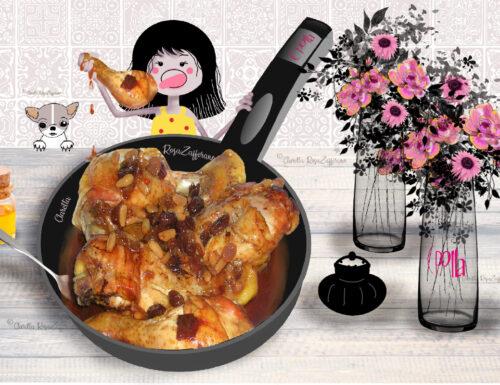 Cosce di pollo al miele con pinoli e uvetta, Ricetta facile