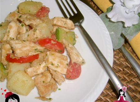 Insalata di pollo, patate e zucchine, Patate lesse, Ricetta pollo, Ricetta facile
