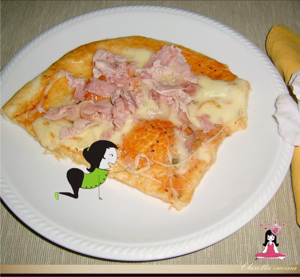 Pizza al prosciutto cotto, Pizza fatta in casa, Ricetta pizza