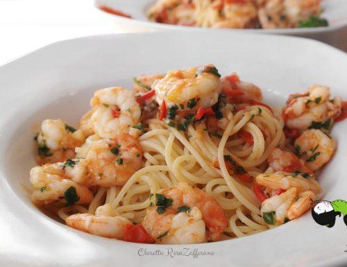 Spaghetti ai gamberetti, Ricetta pasta ai frutti di mare, Gamberetti Ricette