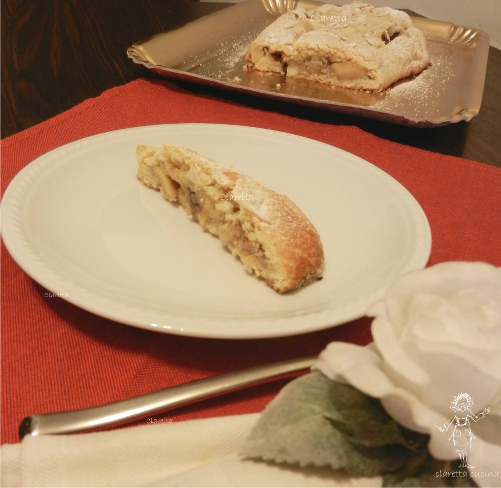 Crostata di strudel, Claretta cucina