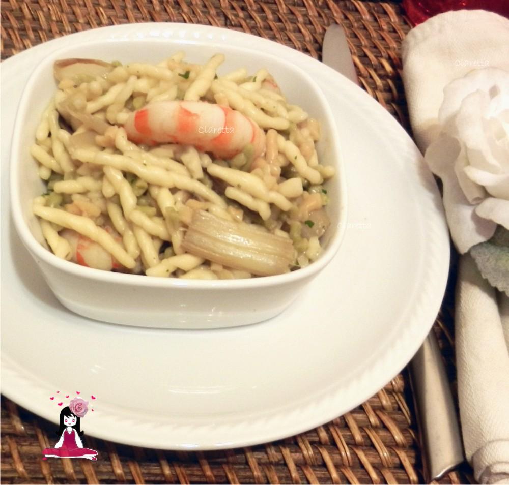 asparagi e mazzancolle, Claretta cucina