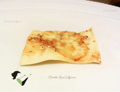 Crackers al formaggio in pasta fillo, Ricetta  crackers
